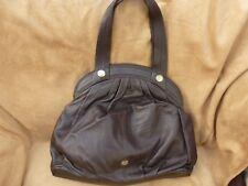RI2K Brown Leather Large Shoulder Bag
