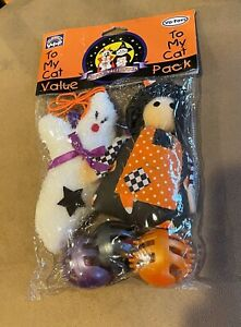 Candy Corn Fall Cat Halloween Toy Pumpkin Balls Ghost Witch String Teaser Catnip