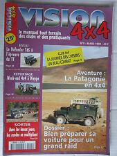 VISION 4X4 N° 9 /PREPA GRAND RAID/DEFENDER TD5/PATAGONIE EN 4X4