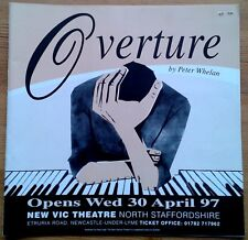 Overture programme New Vic Theatre Newcastle-Under-Lyme 1997 Alan Rothwell