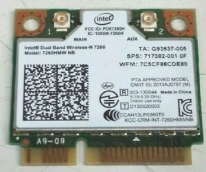 Intel Dual-Band Wireless-N Card 7260 7260HMW NB