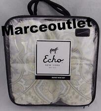 Echo Design Juneau Cotton FULL / QUEEN Duvet Cover & Shams Neutral