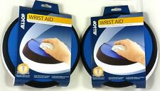 Lot of (2) ALLSOP 26226 Wrist Aid Circular Mouse Pad (Blue), Adjustable angle