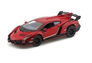 "Brand New 5"" Kinsmart Lamborghini Veneno Diecast Model Toy Car 1:36 Red"