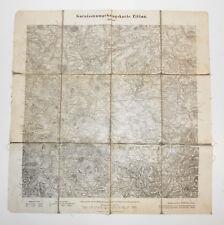 Alte Leinen Landkarte Garnisionumgebungskarte Zittau 1914 WW1 1 Wk ! (L
