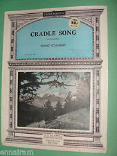Cradle Song Wiegenlied by Franz Schubert, simple ed. by Gahm