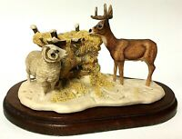 Vintage Schmid Lowell Davis Wintering Deer Country Christmas Farm Figurine