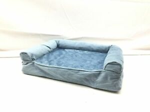 Furhaven Pet Dog Bed - Orthopedic Faux Fur and Velvet Traditional Sofa-Style Liv