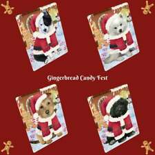 Christmas Gingerbread Candyfest Dog Cat Pet Photo Lovers Refrigerator Magnet
