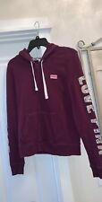 Victoria's Secret Pink Orchid Silver Sequin Bling Perfect Full Zip Up Hoodie Sm