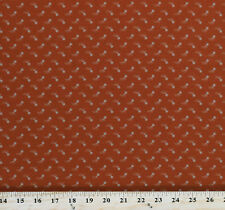 Cotton Primitive Gatherings Peony Floral Flowers Orange Fabric Print BTY D402.38