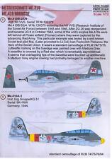 Print Scale Decals 1/72 MESSERSCHMITT Me-210 and MESSERSCHMITT Me-410 HORNISSE