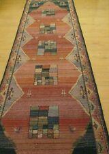 Gabbeh Runner rug carpet mat 68 cm wide x 245 cm with tassels