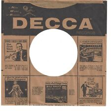 DECCA RECORDS - 45rpm company sleeve  (a New World of Sound)