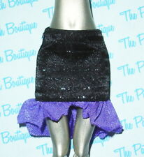 MONSTER HIGH CREATE A MONSTER VAMPIRE DOLL OUTFIT REPLACEMENT BLACK SKIRT ONLY