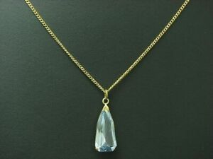 14kt 585 Yellow Gold Necklace & Pendant With 5,66ct Topaz Trim/4,5g/44,0 CM