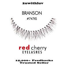 3 X RED CHERRY 100% HUMAN HAIR BLACK FALSE EYE LASHES #747XS BRAND NEW