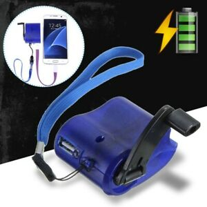 SOS USB Hand Crank Phone Charger Camping Backpack Survival Gear Emergency-Power
