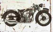 BSA Sloper 1930 Aged Vintage SIGN A4 Retro