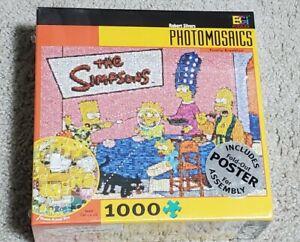 NEW Buffalo THE SIMPSONS Photomosaics 1000 Piece Puzzle FAMILY BREAKFAST Sealed!