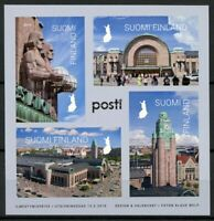 Finland Trains Stamps 2019 MNH Helsinki Central Station Railways Rail 4v S/A M/S