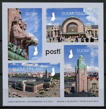 Finland Trains Stamps 2019 MNH Helsinki Central Station Railways Rail 4v S/A M/S