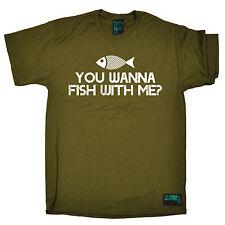 You Wanna Fish With Me ? T-SHIRT Fishing Angler Carp Bait Funny Gift Birthday