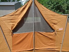Vintage 1972 Coleman Holiday Canvas Wall Tent 8430-720 12' x 9' Camping