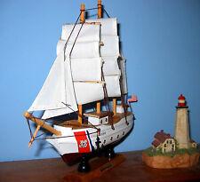 """Wooden COAST GUARD BARQUE EAGLE Model Ship / Boat New 9"""" Long ASSEMBLED"""