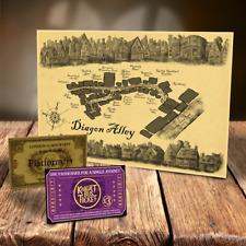 Diagon Alley Karte + Knight Bus, Hogwarts Express Tickets Großartig