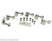 Kluson Locking 6 inline chrome tuners oval button, fits Fender Strat & Tele