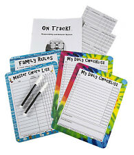 3 Kids On Track tween responsibility & behavior system chores checklist 8+ chart