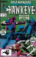 Solo Avengers Hawkeye Comic Issue 8 Copper Age First Print 1988 Defalco Bright