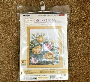 Olympus 7449 Yellow Rose Cross Stitch Kit - 36.4 x 29.7cm Needlework Craft NEW