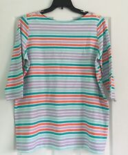 Jessica London Women's Plus Size 18/20 Colorful Striped Blouse Beaded Top NWOT