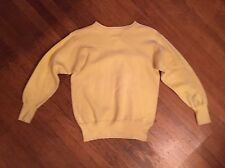 Vtg 30s 40s Double V Pilgrim Cotton Yellow SweatShirt M