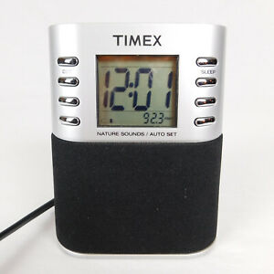 Clock Radio Timex  AM/FM Nature Sounds MP3 in-line Digital Battery back-up T307S