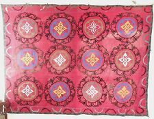 Central Asia Uzbek? Suzani Floral Hand Embroidered Decoration pattern ca. 20th c