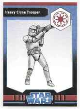 2009 Star Wars Miniatures Heavy Clone Trooper Stat Card Only Near Mint