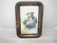 """VINTAGE BERLIN STATE BANK METAL TIP TRAY, FAIR TO GOOD COND. (4 1/4"""" X 6 1/4"""")"""