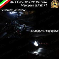 KIT LED INTERNI MERCEDES SLK R171 PLAFONIERA+PORTAOGGETTI+BAGAGLIAIO   NO ERROR
