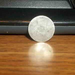 1852 Silver 3 Cent Piece #A25