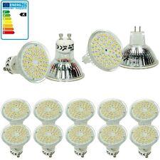 10x LED GU10/MR16 LED 3W 54SMD LAMPE BIRNE STRAHLER LICHT SPOT GLÜHBIRNE