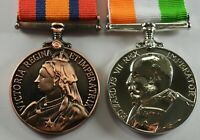 King and Queen's South Africa War Medal Replicas. Victoria, Edward VII, Boer War