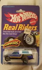 Hot Wheels HiRakers Dodge D-50 Truck Real Riders #4353 1982 Blue 1:64 Goodyear