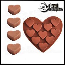 10 en forme de cœur chocolat glace gelée moule en silicone Moule Plateau Gâteau Saint-Valentin UK