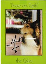 "MARK COLLIE DEC.1994 5""x7"" SIGNED/AUTOGRAPHED CHRISTMAS POSTCARD GOOD CONDITION"