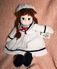 Jolie poupée chiffon neuve tissu 35 cm Les Fannettes faite main. marque déposée