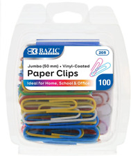 Bazic Jumbo Color Paper Clips For School Home And Office Organization 50 Mm