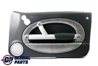 BMW Mini R50 R53 2 Front Right O/S Door Card Trim Panther Black Alloy Patina